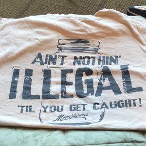 L men's moonshiners T shirt COTTON women's XL